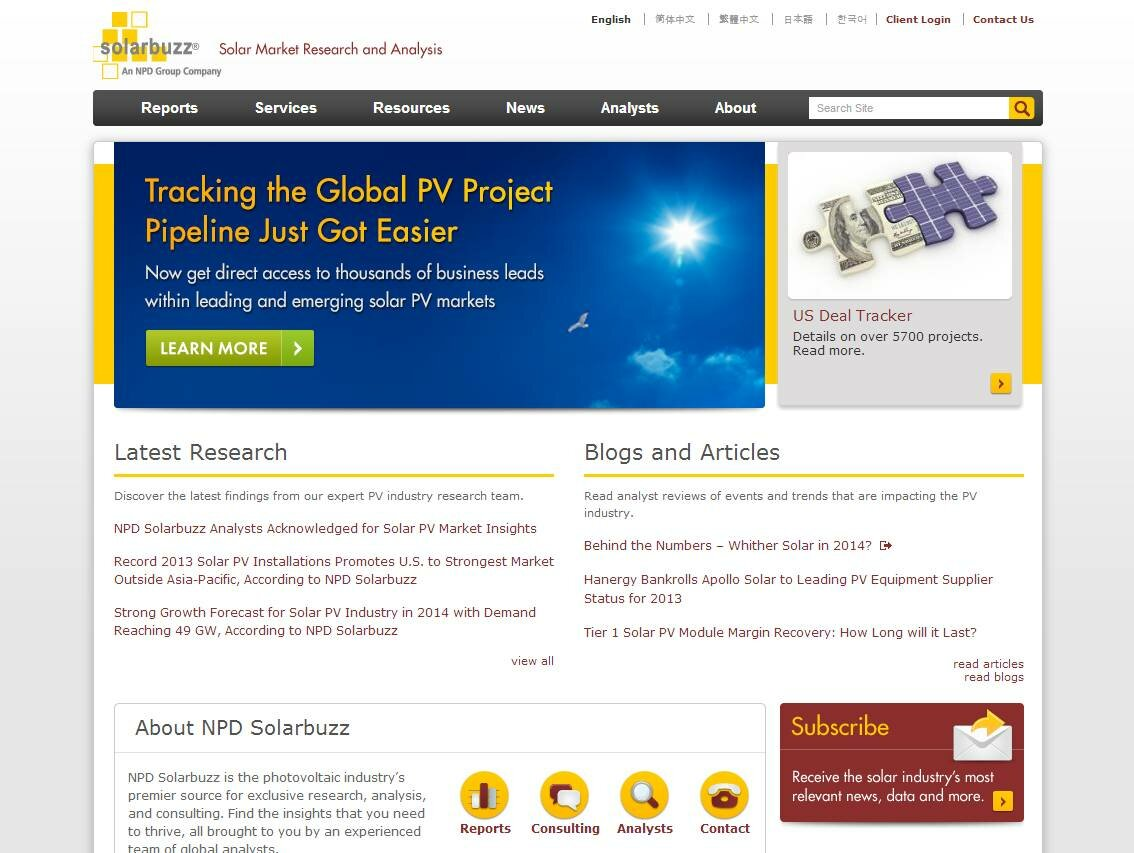 NPD Solarbuzz