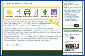 ALTERNATIVE ENERGY INDUSTRIES